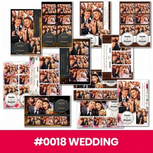Set of 12 print templates - Wedding #3