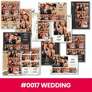 Set of 12 print templates - Wedding #4