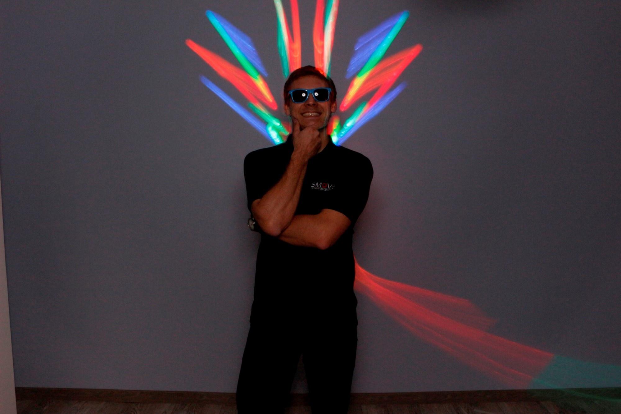 malowanie światłem w fotobudce