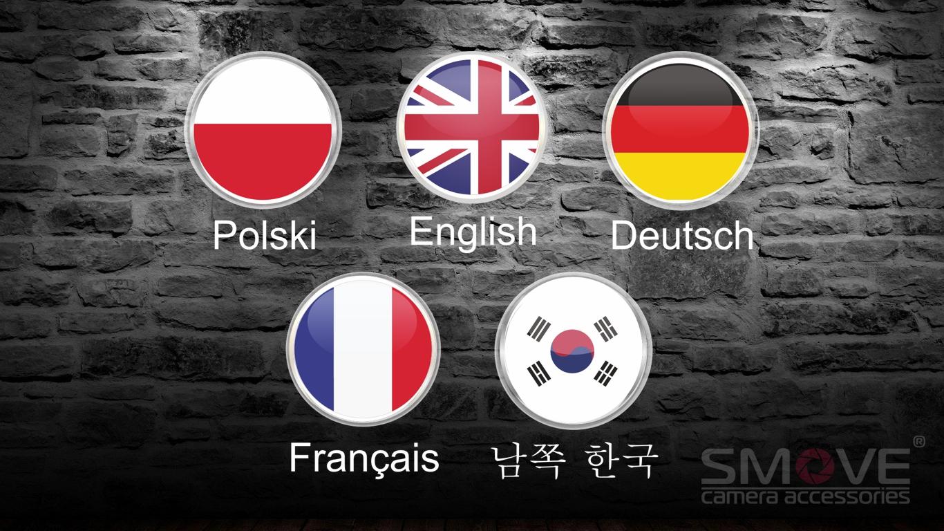 Okno wyboru języka