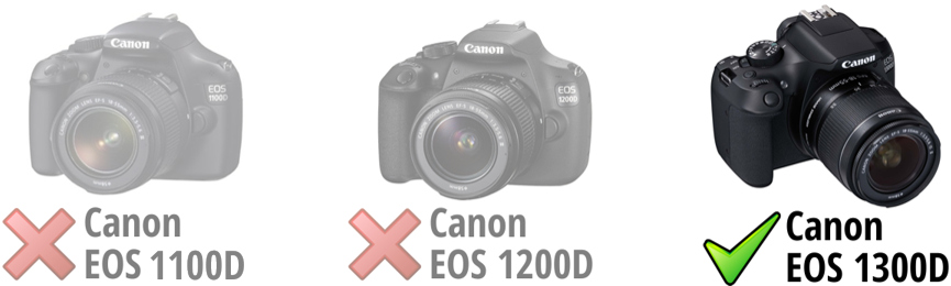 Camera Canon EOS 1300D