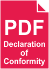 Download English Declaration of Conformity for CP-D707DW