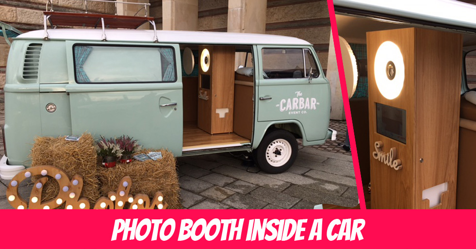 Photo booth in Volkswagen T2